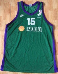 Unicaja Malaga 1996 -97 Home kit