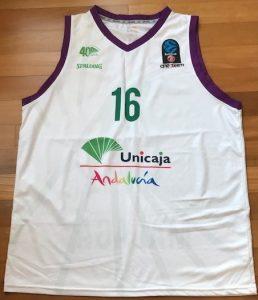 Unicaja Malaga 2016 -17 away kit