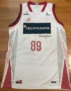 TECNYCONTA Zaragoza 2016 -17 away jersey