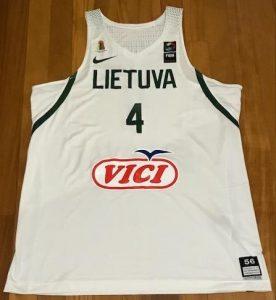 Lithuania 2016 -17 away jersey
