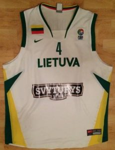 Lithuania 2006 -07 away jersey