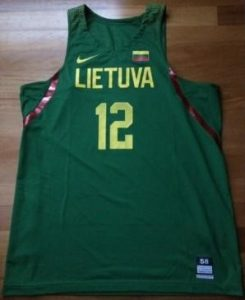 Lithuania 2016 -17 Home jersey