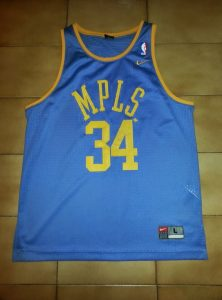 Los Angeles Lakers 2001 -02 Mineapolis throwback jersey
