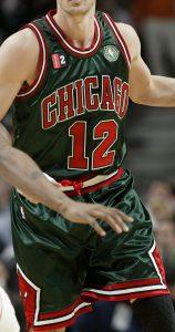Chicago Bulls 2008 -09 St. Patricks day 2009 jersey