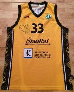 Šiauliai 2015 -16 Home jersey