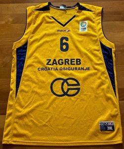 KK Zagreb 2007 -08 yellow jersey
