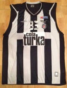 Besiktas 2008 -09 alternate striped jersey