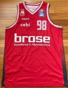 Brose Bamberg 2018 -19 away jersey