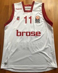Brose Bamberg 2015 -16 Home jersey