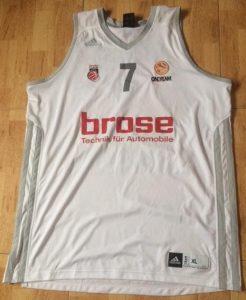 Brose Bamberg 2012 -13 Home jersey