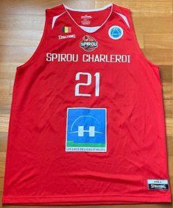 Spirou Charleroi 2017 -18 home jersey
