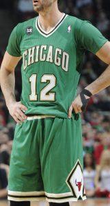 Chicago Bulls 2013 -14 St. Patricks day 2014 short sleeve jersey
