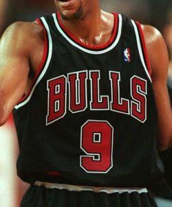 Chicago Bulls 1997 -98 alternate black jersey