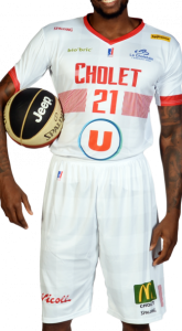 Cholet Basket 2018 -19 short sleeve white jersey