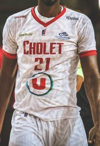 Cholet Basket 2019-20 short sleeve white jersey