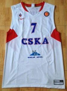 CSKA Moscow 2010 -11 alternate white jersey