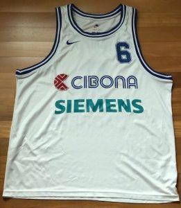 Cibona Zagreb 1998 -99 Home jersey