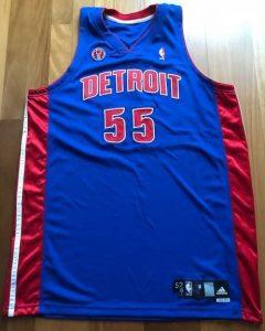 Detroit Pistons 2012 -13 road jersey