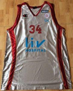 Galatasaray 2013 -14 alternate silver jersey
