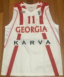 Georgia national team 2010-11 Home jersey Eurobasket 2011