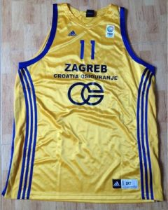 KK Zagreb 2010 -11 alternate yellow jersey