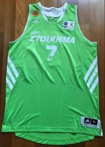 Panathinaikos B.C. 2013 -14 alternate jersey