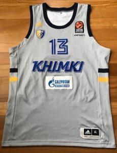Khimki 2018 -19 alternate grey jersey