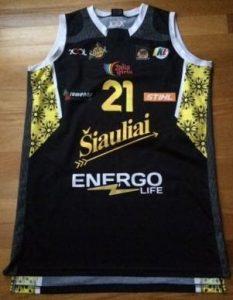 Šiauliai 2013 -14 away jersey