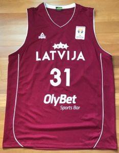 Latvia 2018 -19 away jersey