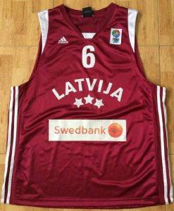 Latvia 2008 -09 away jersey