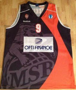 Le Mans Sarthe Basket 2010 -11 away jersey