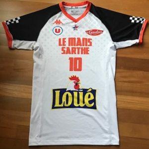 Le Mans Sarthe 2018 -19 alternate short sleeve white jersey