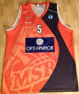 Le Mans Sarthe Basket 2010 -11 Home jersey
