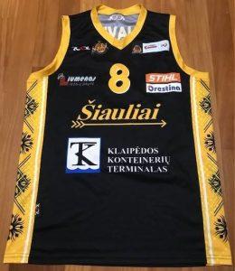 Šiauliai 2015 -16 away jersey