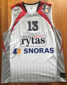 Lietuvos rytas 2010 -11 away jersey