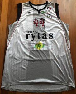 Lietuvos rytas 2007 -08 away jersey