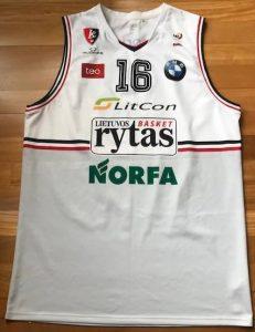 Lietuvos rytas 2016 -17 away jersey