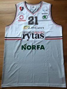 Lietuvos rytas 2015 -16 away jersey