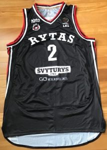 Lietuvos rytas 2018 -19 black jersey