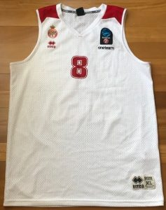 AS Monaco Basket 2018 -19 Home jersey