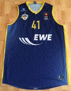 EWE Baskets Oldenburg 2015 -16 Home jersey