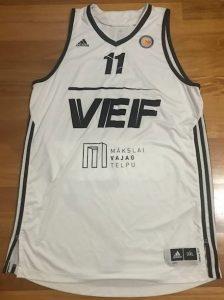 VEF Riga 2016 -17 away jersey
