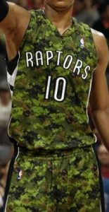 Toronto Raptors 2012 -13 camouflage jersey