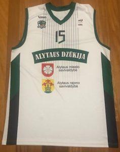 BC Dzūkija Alytaus 2016 -17 away jersey