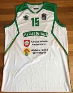 Dzūkija Alytaus 2017 -18 away jersey