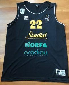 Šiauliai 2017 -18 away jersey