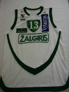 Žalgiris Kaunas 2007 -08 away jersey