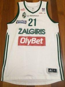 Žalgiris Kaunas 2015 -16 away jersey