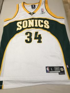 Seattle Supersonics 2002 -03 home jersey