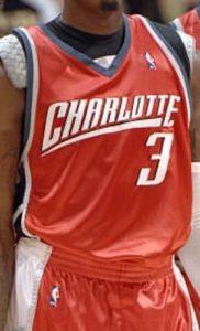 Charlotte bobcats 2008 -09 away jersey